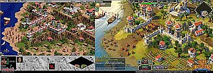 Age of Empires Online - Image: Ao EO comparison 1