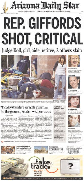 Arizona Daily Star - Image: Arizona Daily Star front page