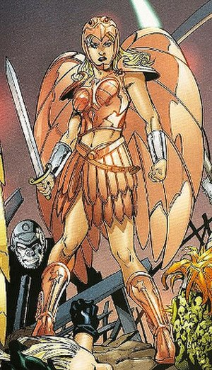 Wonder Girl (Cassie Sandsmark) - Cassie in her Amazon armor. Art by Aaron Lopresti.