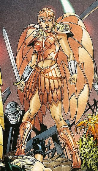 Wonder Girl (Cassie Sandsmark) - Cassie in her Amazon armor. Art by Aaron Lopresti.