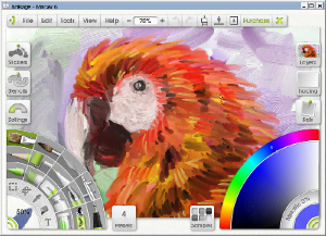 ArtRage - Image: Art Rage Maccaw screen capture (37.5%)