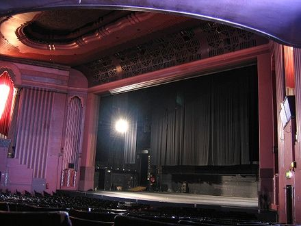 View of the stage and proscenium, 2007 Auditorium showing stage.jpg