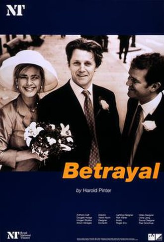 Betrayal (play) - NT, poster for the 1998 production directed by Trevor Nunn