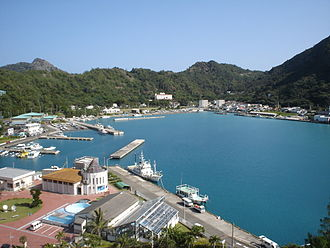 Chichijima - Futami Harbor, the port at Chichijima