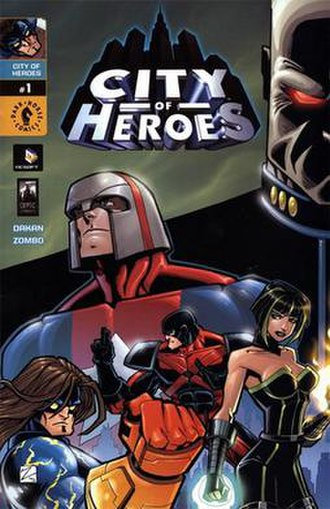 City of Heroes (comics) - Dark Horse promotional comic cover