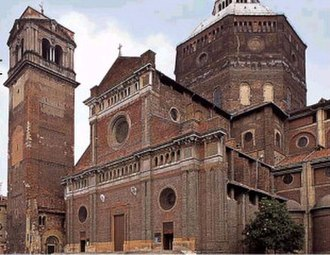 Civic Tower (Pavia) - Civic Tower at Pavia cathedral before its collapse