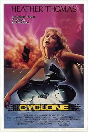 Cyclone (1987 film) - Promotional film poster