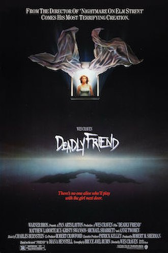 Deadly Friend - Theatrical release poster