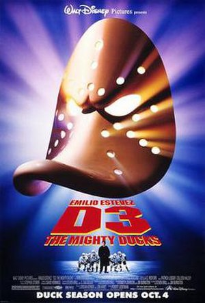 D3: The Mighty Ducks - Promotional film poster