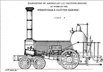 4-2-0 - Norris engine for the Birmingham and Bristol Railway