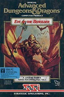 <i>Eye of the Beholder</i> (video game) 1990 video game