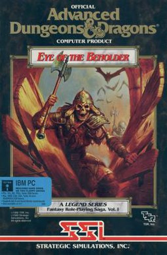 Eye of the Beholder (video game) - DOS/Amiga cover art
