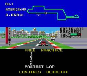 Fastest 1 - This is a player doing free practice in preparation for the next race.