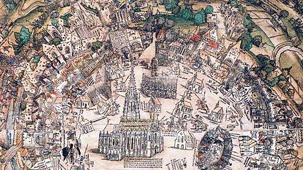 The Ottomans were unable to overcome the long pike formations and arquebus fire of the defenders in the Siege of Vienna, 1529 First Siege of Vienna 1529.jpg
