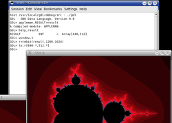 GDL rendering the Mandelbrot set