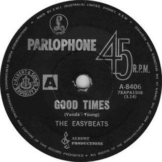 Good Times (The Easybeats song) - Image: Good Times The Easybeats Single Cover