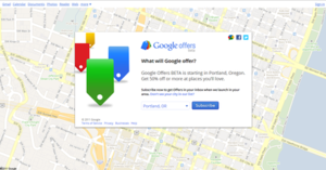 Google Offers - Image: Google Offers webpage