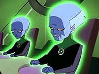 The Guardians of the Universe as depicted in Superman: The Animated Series.