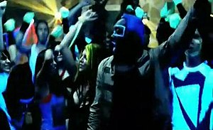 "I Gotta Feeling - A party scene showing (from left to right) Apl.de.ap, Fergie, will.i.am and Taboo in the official music video for ""I Gotta Feeling""."