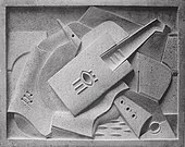 Jacques Lipchitz, 1918, Still Life, bas relief, stone.jpg