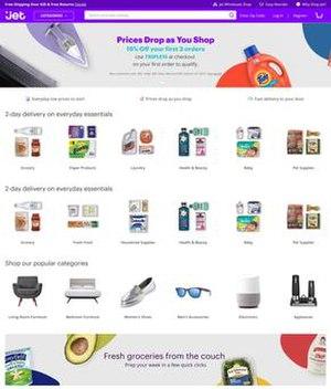 Jet.com - Image: Jet.com screenshot