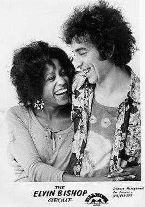 Jo Baker (singer) - Image: Jo Baker and Elvin Bishop, 1972