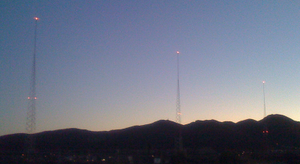 KFMB (AM) - KFMB's towers are near Mission Gorge in San Diego.