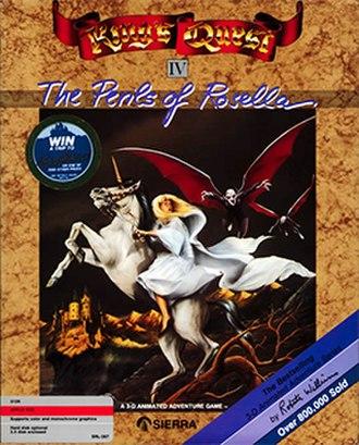 King's Quest IV - Apple II cover art