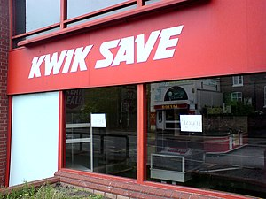 Kwik Save - Closed branch of Kwik Save in Warrington, 13 July 2007
