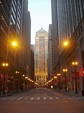 LaSalle Street during the nighttime (2007-07-04)