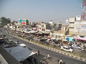 Banga, India - The Main Road of Banga