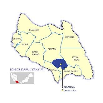 Kulai District - Kulai District and the capital Kulai Town