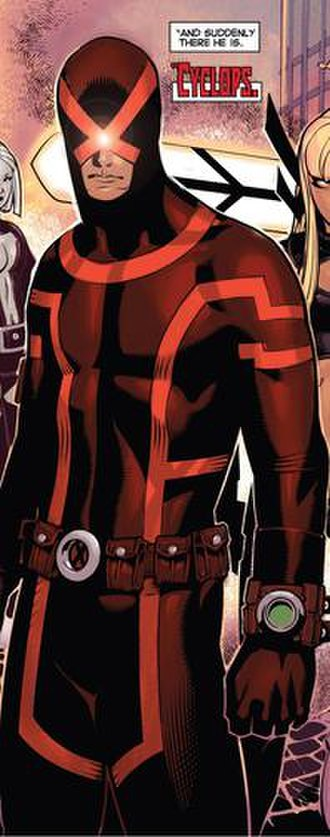 Cyclops (Marvel Comics) - Cyclops' newer, darker uniform.  Art by Chris Bachalo.