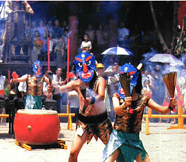 People performing nuo opera