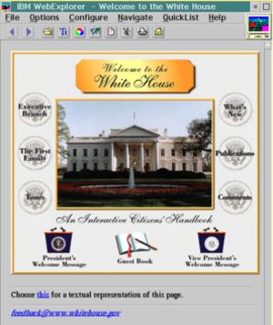 IBM WebExplorer - Image: OS2 IBM Web Explorer