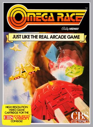 Omega Race - Box cover of Coleco Vision adaptation