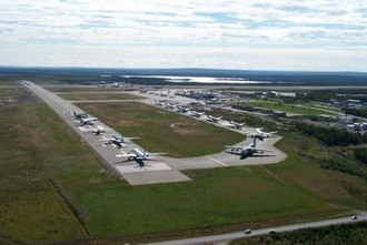 Operation Yellow Ribbon - Gander International Airport in Newfoundland, Canada played host to 38 airliners, totalling 6,122 passengers and 473 crew, as part of Operation Yellow Ribbon.