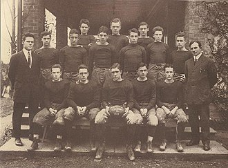 Oratory Preparatory School - Carlton Academy's first football team. Photograph circa 1913.