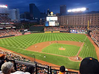 Oriole Park at Camden Yards - The Orioles hosting the Seattle Mariners on August 1, 2014.