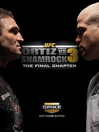 A poster or logo for UFC: Ortiz vs. Shamrock 3: The Final Chapter.