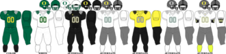 2010 Oregon Ducks football team - Image: Pac 10 Uniform UO 2010