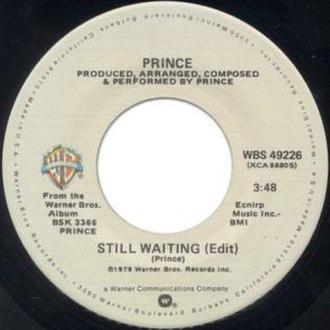 Still Waiting (Prince song) - Image: Prince Still Waiting single