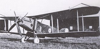 Bristol F.2 Fighter - Bristol Fighter prototype with B.E.2d wings. Note column radiators on fuselage sides, forward of the wings.