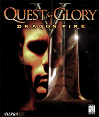 Quest for Glory V: Dragon Fire - Cover art