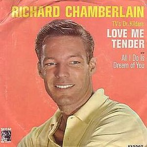 Love Me Tender (song) - Image: Richardchamberlainlo vemetender