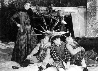 Kathryn Sheldon - Sheldon is at her wits' end with the hapless Three Stooges in the film Rockin' thru the Rockies