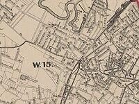 1874 Map of Roxbury Crossing