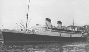 Eugenio Pacelli's 1936 visit to the United States - Pacelli arrived on the SS ''Conte di Savoia'', which waited for him in New York for his return voyage