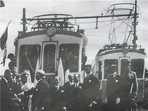 Transport in San Marino - Opening ceremony of San Marino's electric railway in 1932
