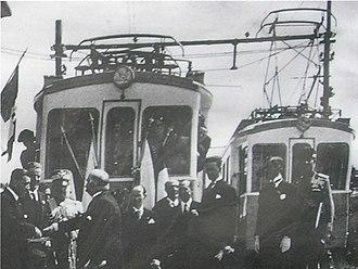 Transport in San Marino - Opening ceremony of San Marino's electric railway in 1932